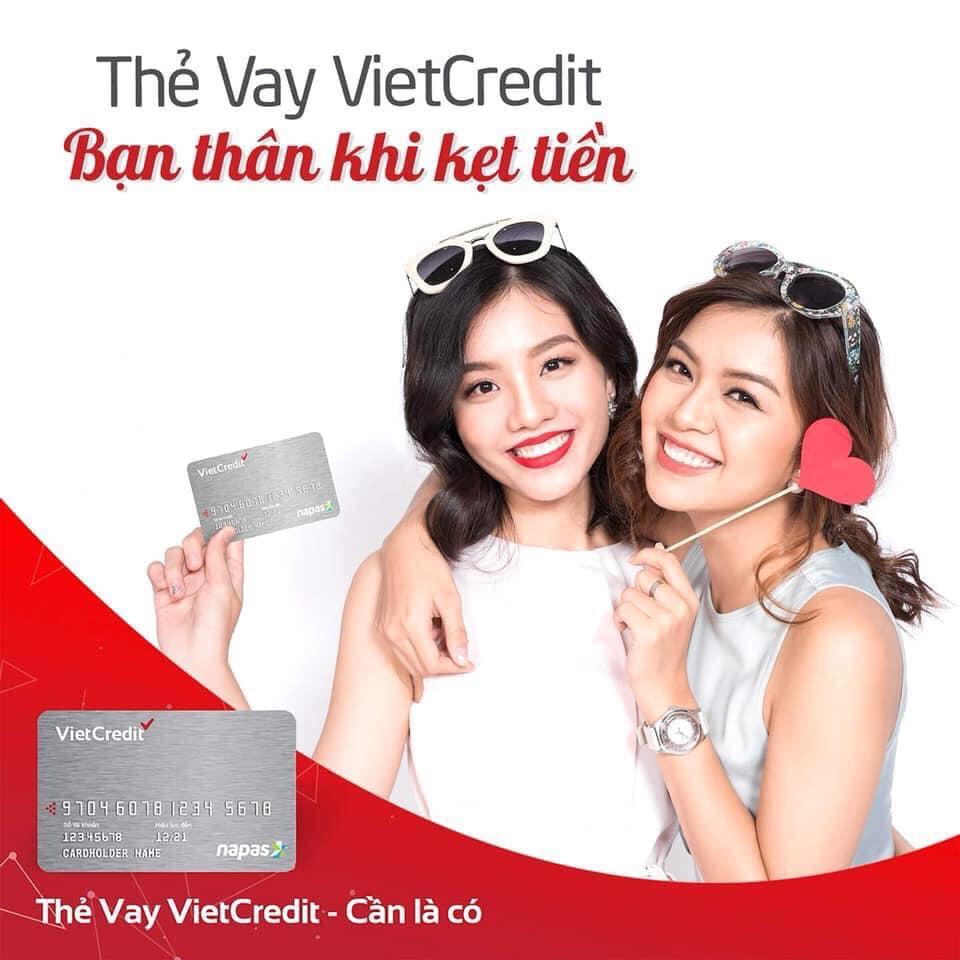 Hỗ trợ làm thẻ vay Vietcredit Miễn phí phát hành thẻ
